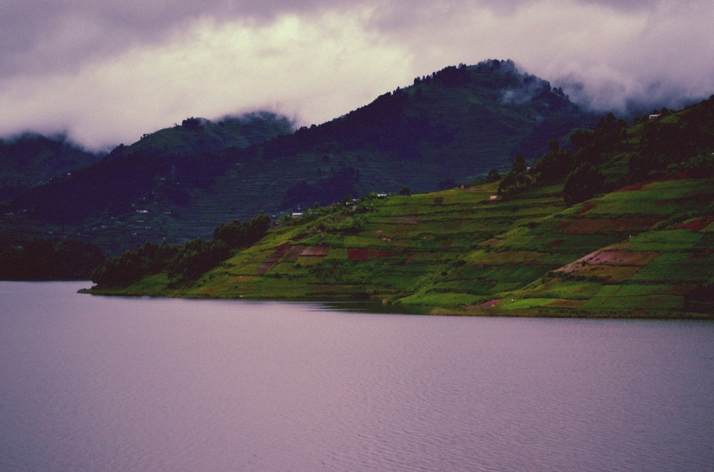 Clouds Over Bunyonyi Lake and Mountains