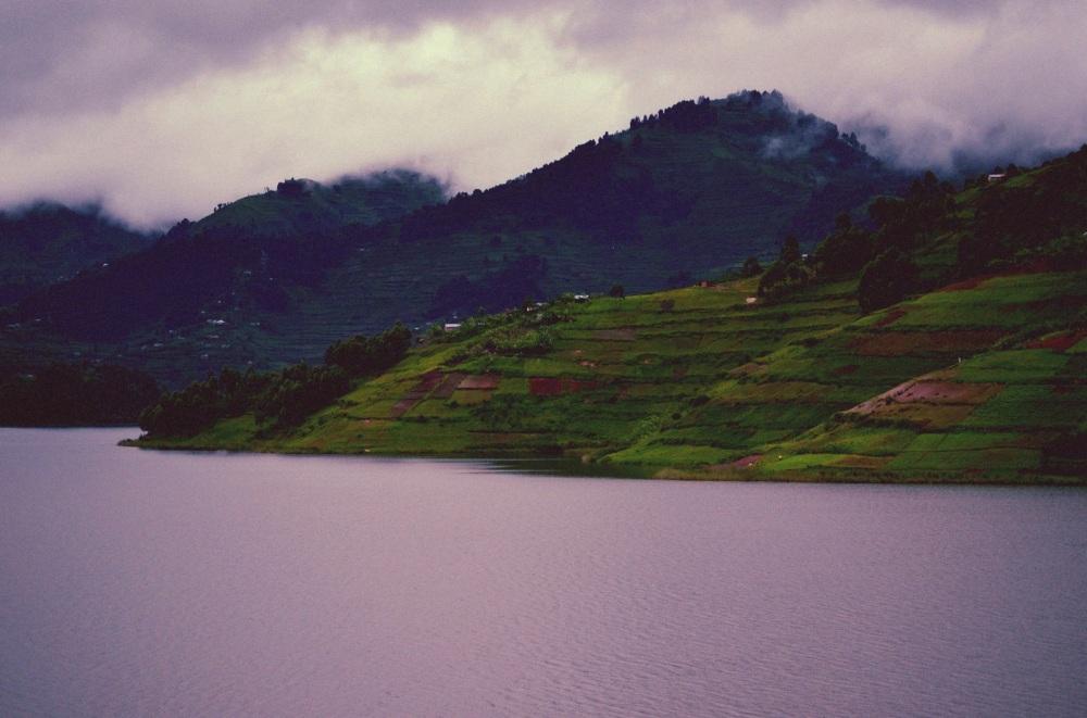 Clouds Over Bunyonyi Lake and Mountains
