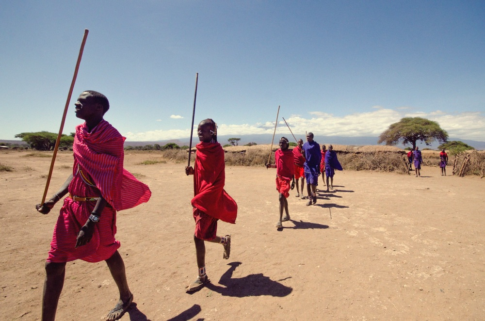 Maasai Dance Preparations