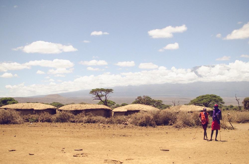 Masai Men, Amboseli