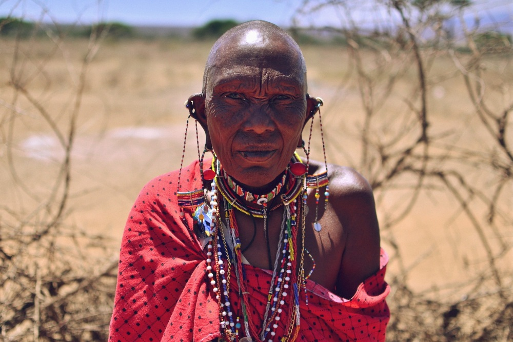 Maasai Beaded Matriarch