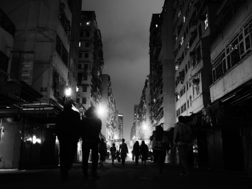 Fa Yuen Street - Black and White